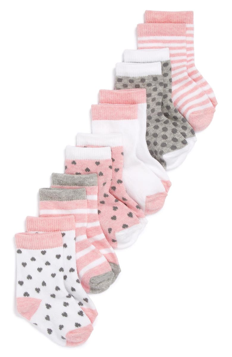 NORDSTROM BABY Crew Socks, Main, color, 680