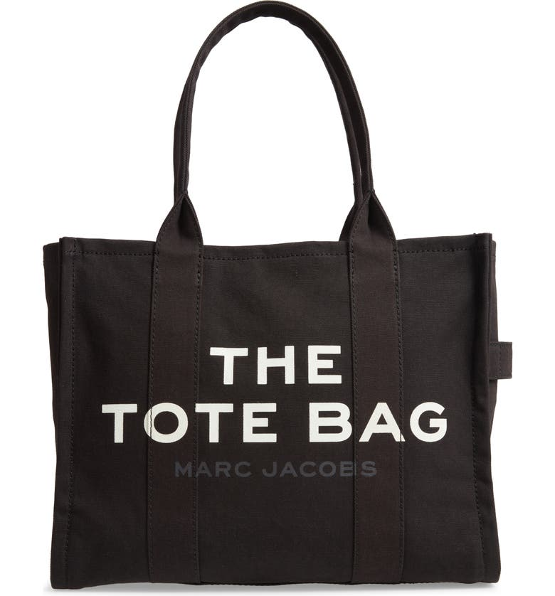 THE MARC JACOBS Traveler Canvas Tote, Main, color, BLACK
