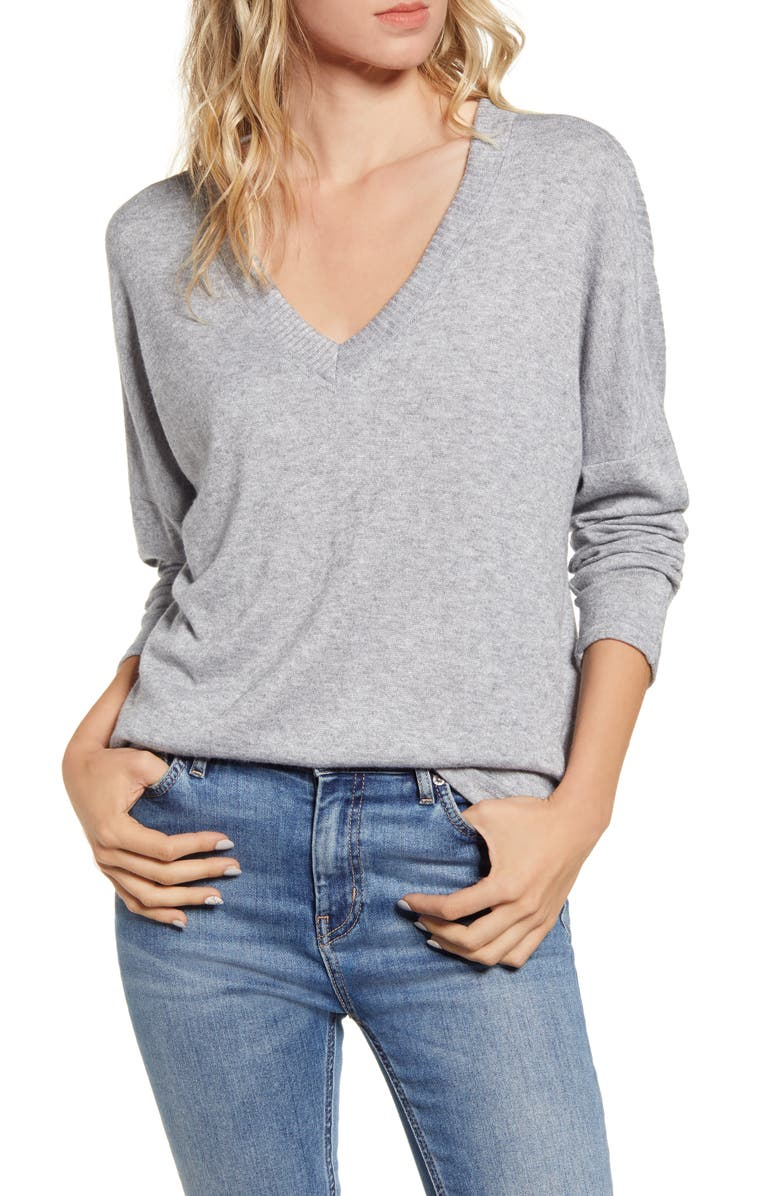ALL IN FAVOR V-Neck Sweater, Main, color, 020