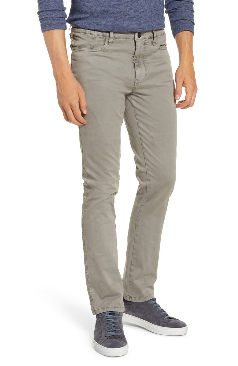 VINTAGE 1946 Sunny Modern Fit Stretch Twill Chinos, Main, color, DUSTY SILVER
