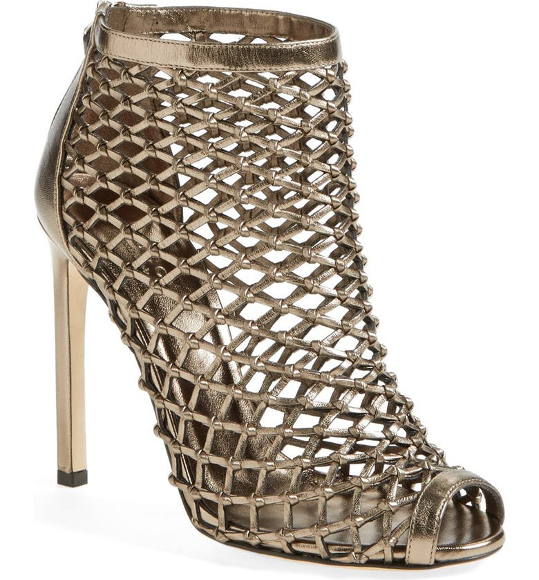 GUCCI 'Eline' Studded Cage Open Toe Sandal, Main, color, 040