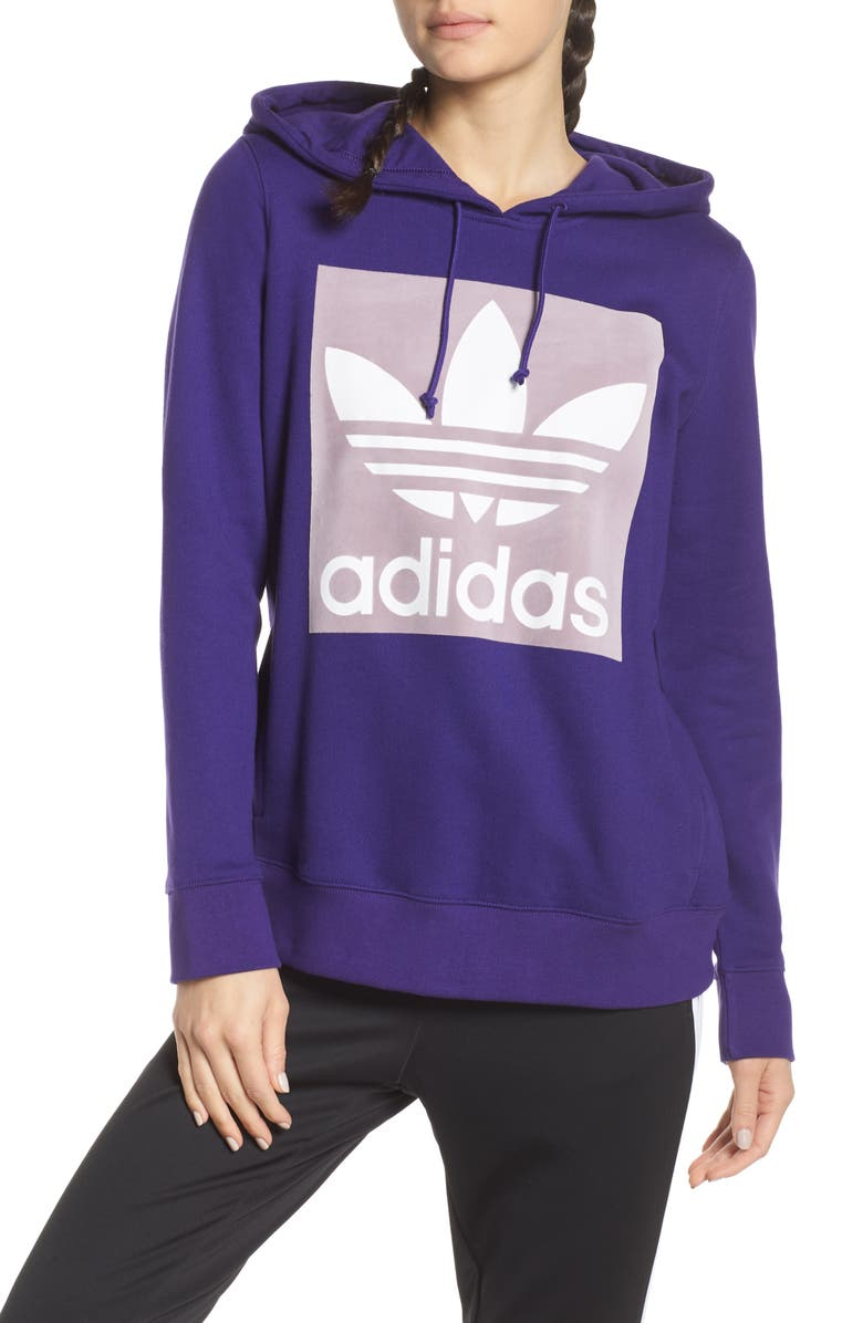 ADIDAS ORIGINALS Trefoil Hoodie, Main, color, 500
