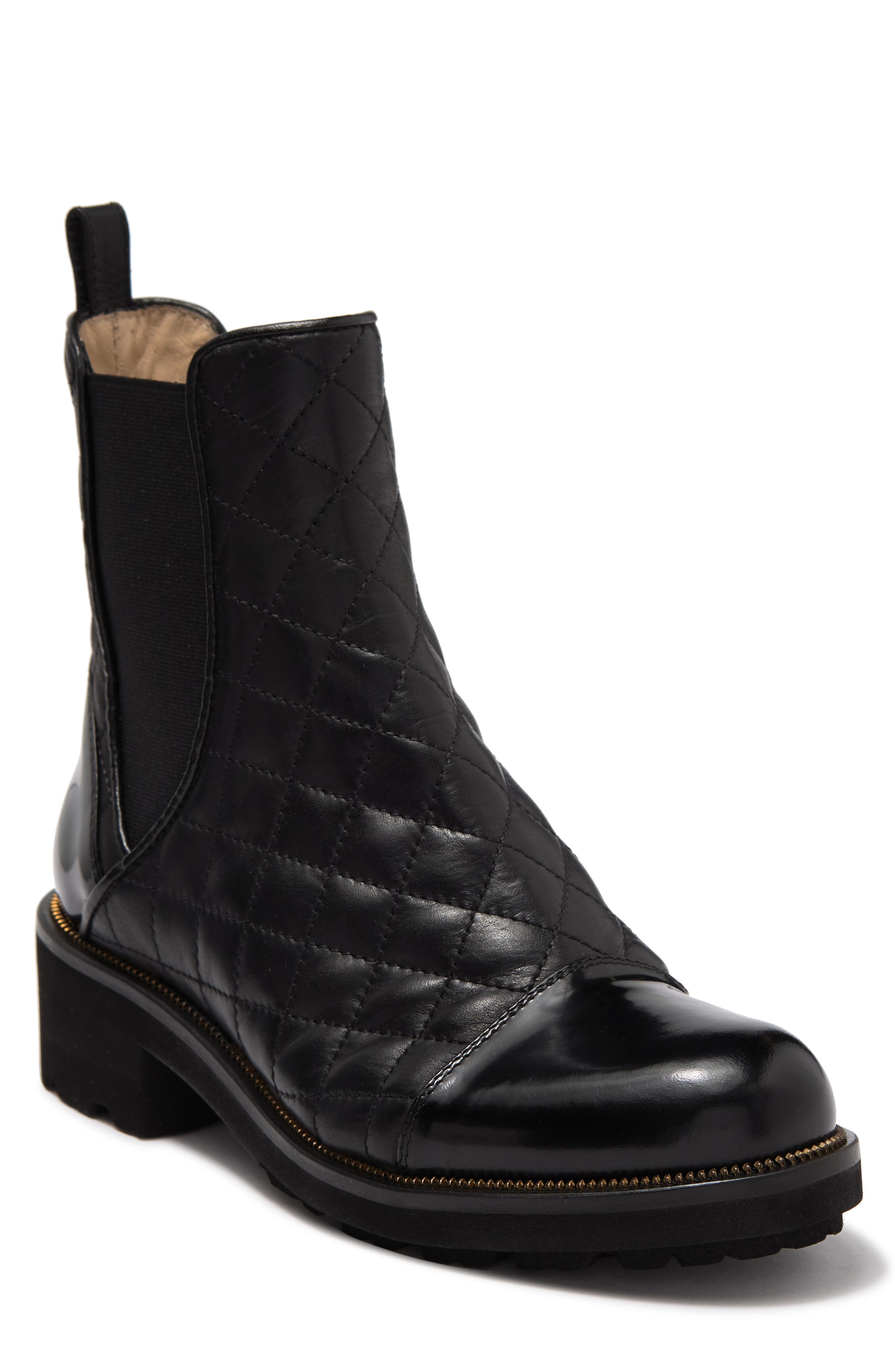 Targen Diamond Quilted Pull-on Leather Boot | Nordstromrack