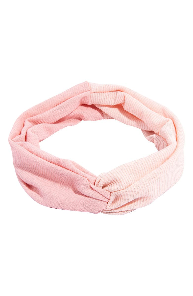 FRANCE LUXE Ribbed Interlock Headbands - Pack of 2, Main, color, PINK/BLACK
