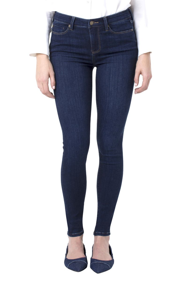 LIVERPOOL Abby Skinny Jeans, Main, color, GRIFFITH SUPER DARK