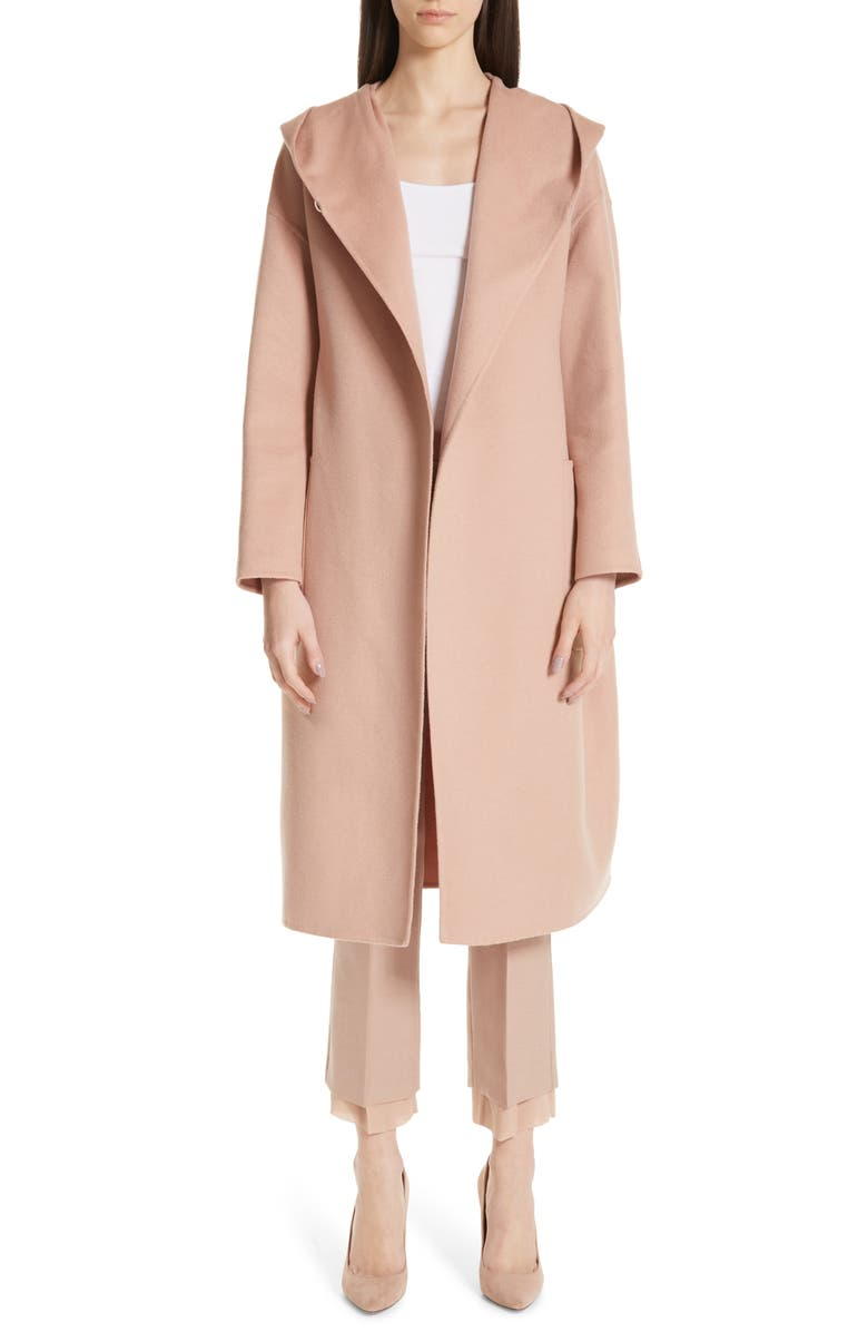 MAX MARA Pucci Hooded Double Face Camel Hair Coat, Main, color, 250