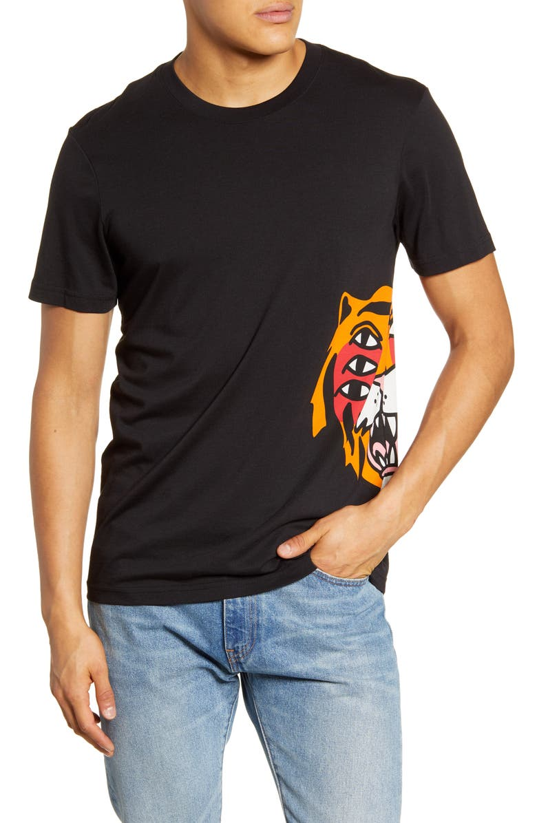 STANCE Cavolo Tiger T-Shirt, Main, color, 001