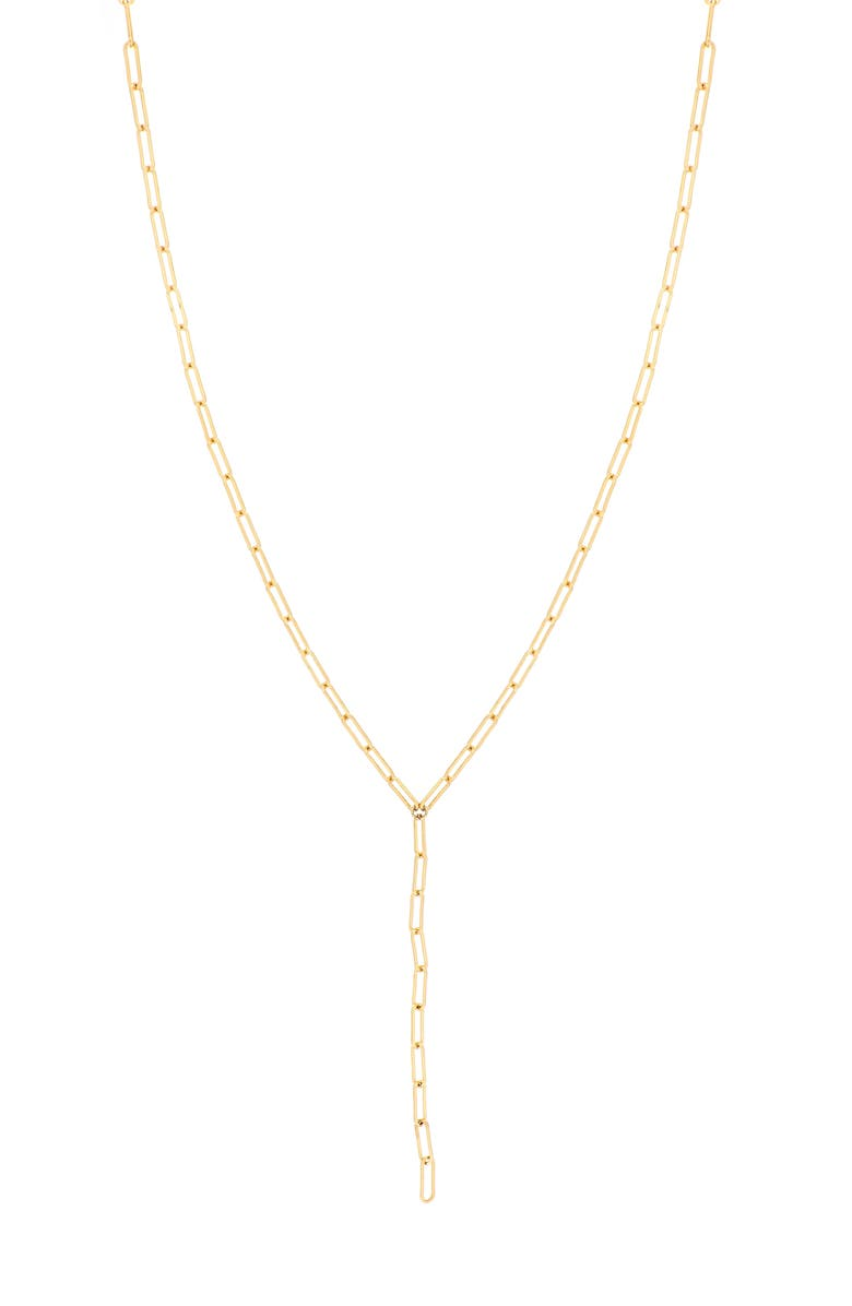 BONY LEVY Ofira 14K Gold Chain Link Y-Necklace, Main, color, 710