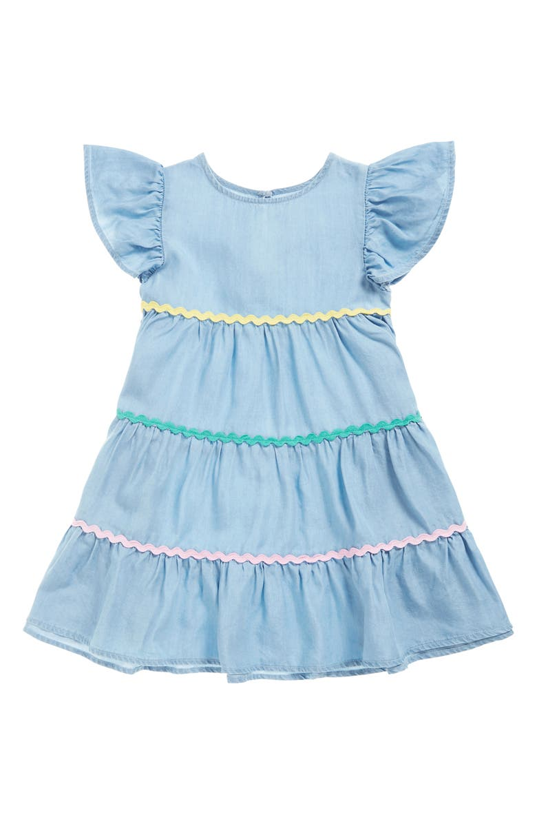 SEED HERITAGE Rickrack Tiered Dress, Main, color, 400