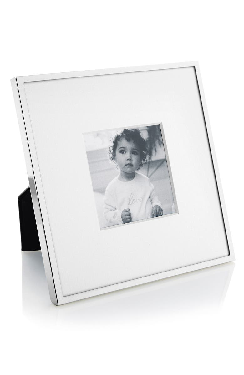 THE WHITE COMPANY Fine Silver Plated Picture Frame, Main, color, 040