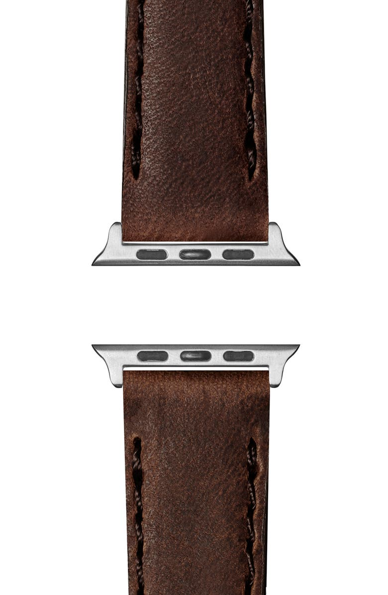 SHINOLA Leather Apple Watch<sup>®</sup> Strap, Main, color, BROWN