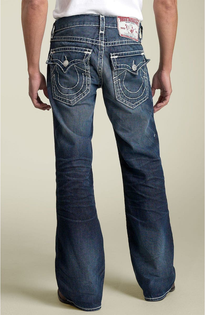 TRUE RELIGION BRAND JEANS 'Billy - Natural Super-T' Bootcut Jeans, Main, color, 400