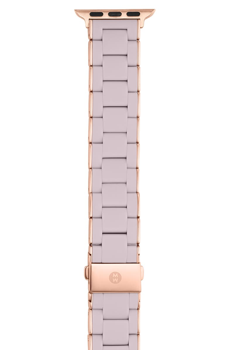 MICHELE Apple Watch<sup>®</sup> Wrapped Silicone Bracelet Strap, Main, color, LILAC/ROSE GOLD