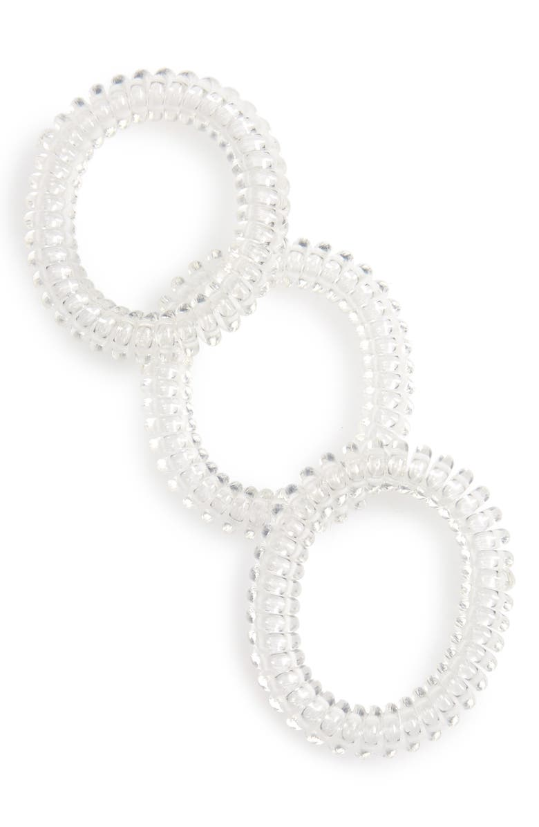 INVISIBOBBLE Slim 3-Pack Hair Ties, Main, color, CRYSTAL CLEAR