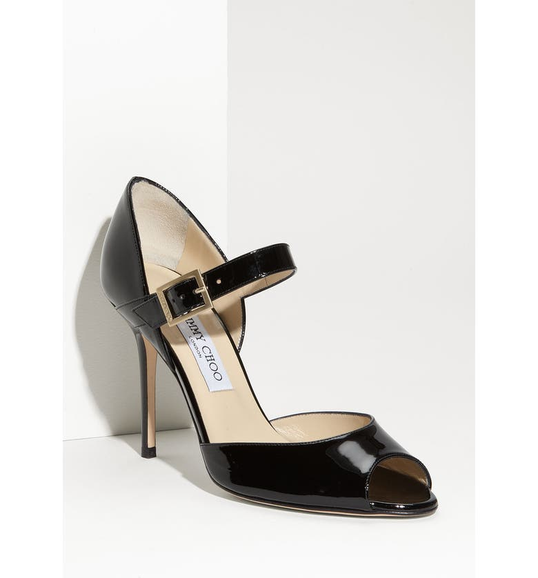 JIMMY CHOO 'Lace' Mary Jane Pump, Main, color, 001