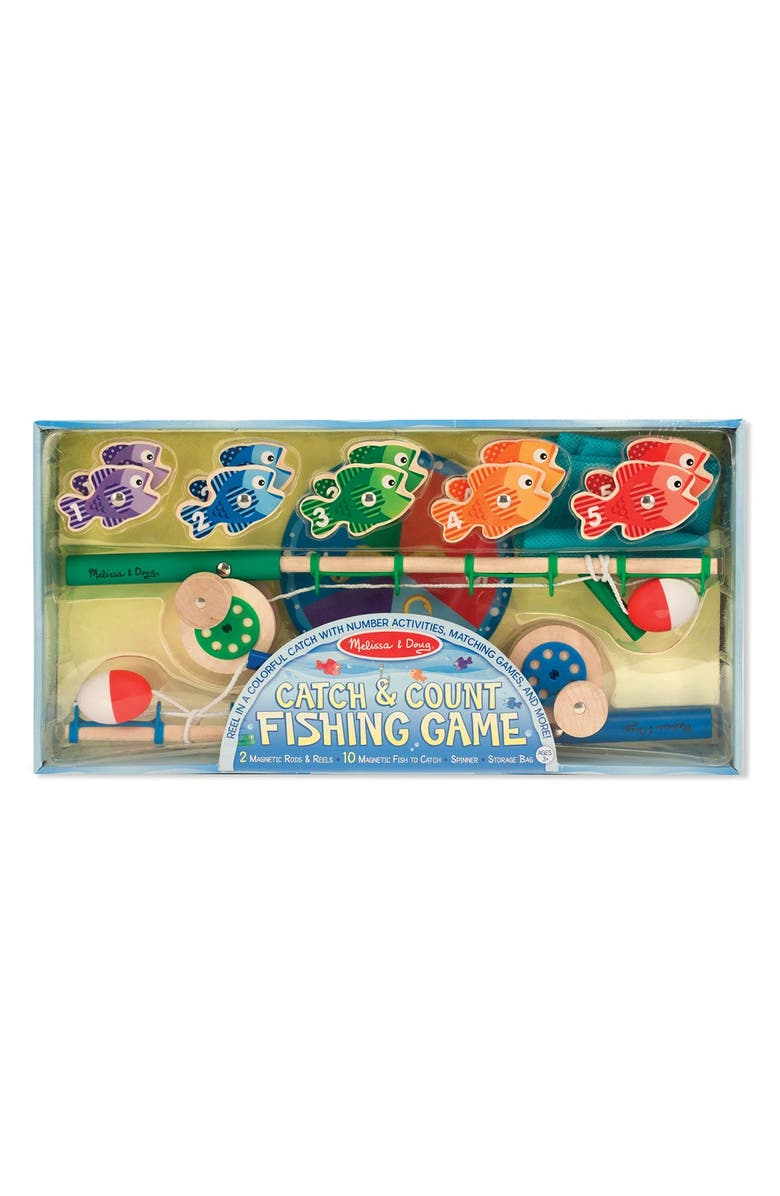 MELISSA & DOUG 'Catch & Count' Fishing Game, Main, color, BLUE MULTI