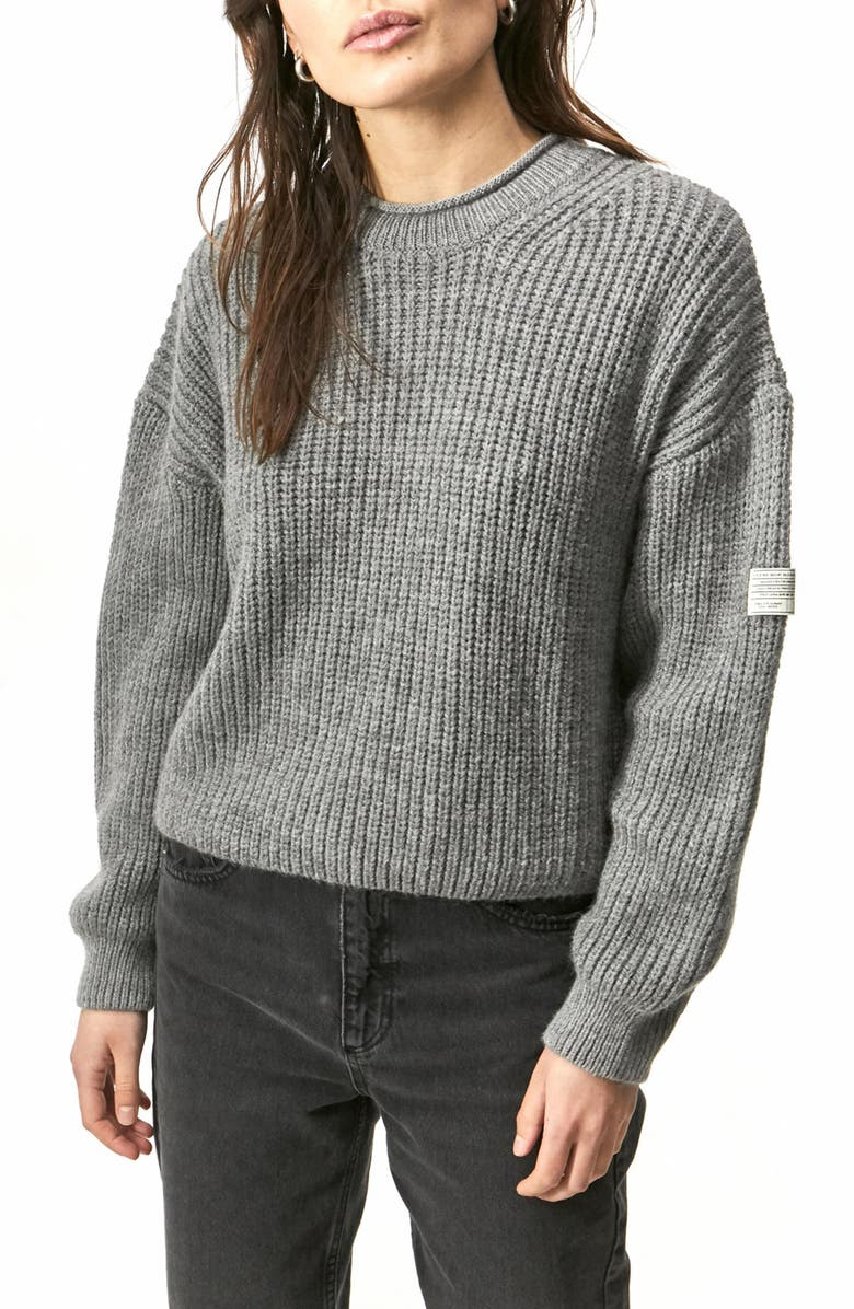 BDG URBAN OUTFITTERS Fisherman Sweater, Main, color, GREY
