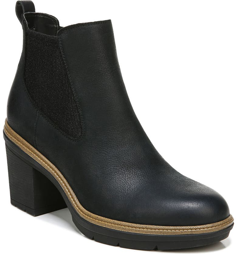 DR. SCHOLL'S First Class Water Resistant Chelsea Boot, Main, color, BLACK