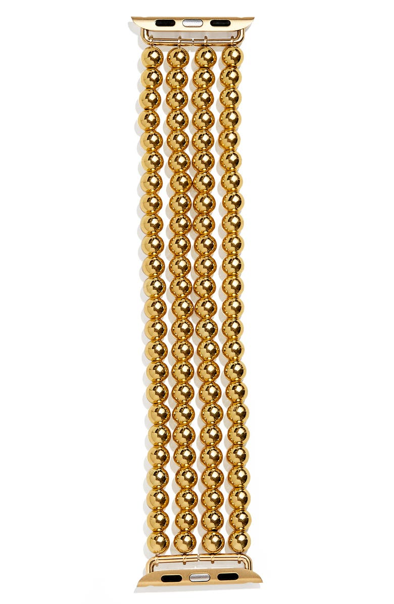 BAUBLEBAR Beaded Apple Watch<sup>®</sup> Band, Main, color, YELLOW GOLD