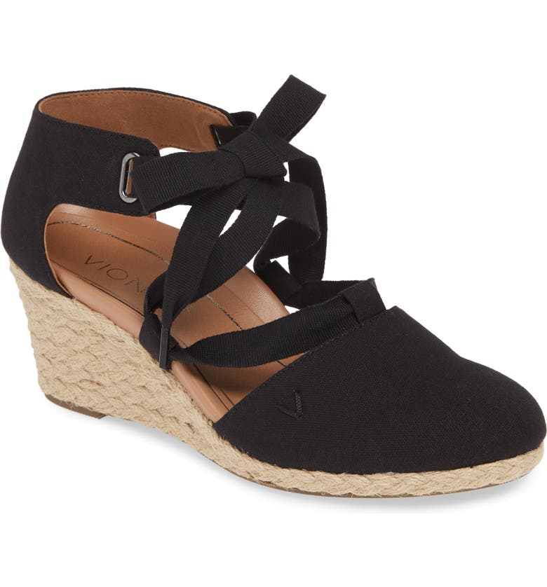 VIONIC Kaitlyn Open Sided Wedge Sandal, Main, color, 001