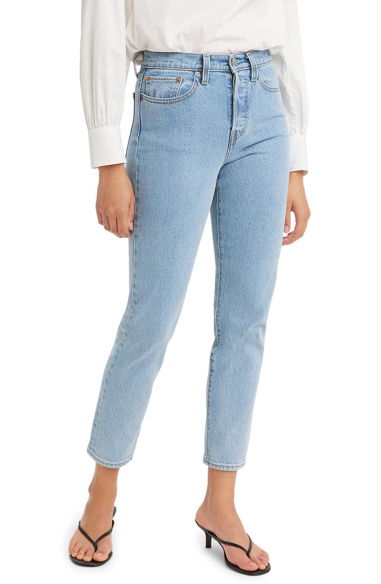 LEVI'S<SUP>®</SUP> Wedgie Icon Fit High Waist Ankle Jeans, Main, color, TANGO TALKS CLEAN HEM