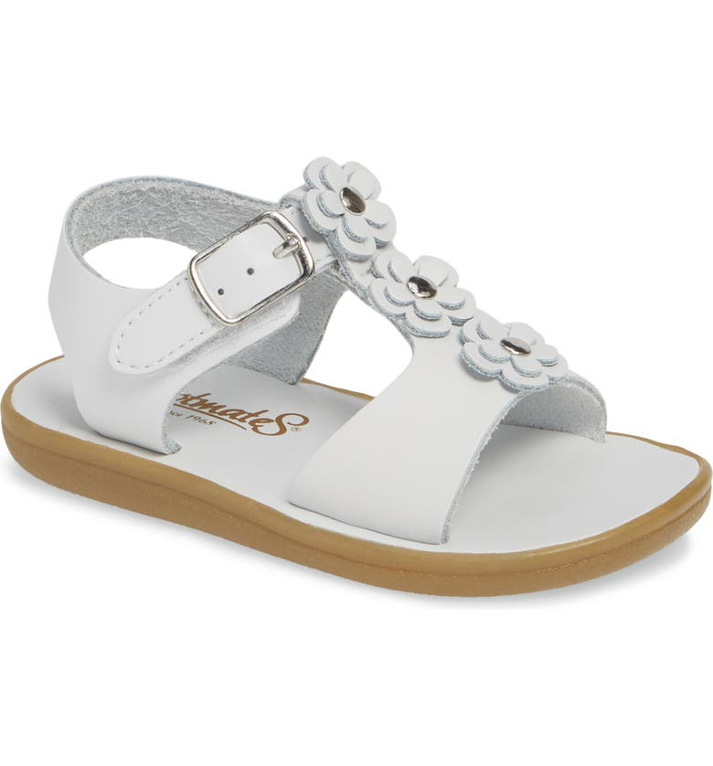FOOTMATES Jasmine Waterproof Sandal, Main, color, White