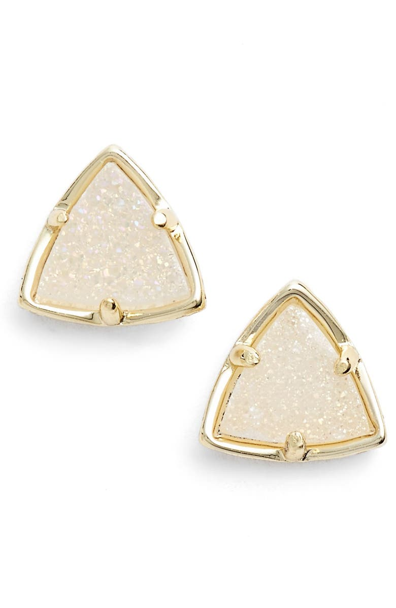 KENDRA SCOTT 'Parker' Stud Earrings, Main, color, GOLD IRIDESCENT DRUSY