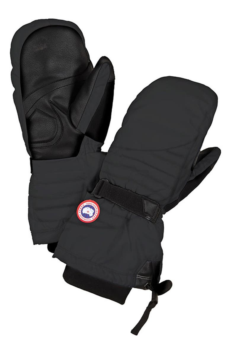 CANADA GOOSE Waterproof Down Mittens, Main, color, 001