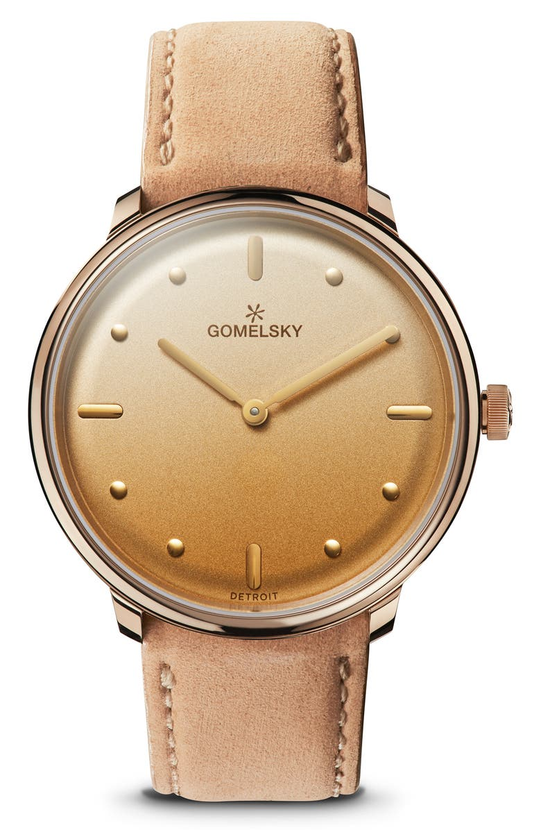 GOMELSKY BY SHINOLA Women's Audrey Leather Strap Watch, 36mm, Main, color, 200