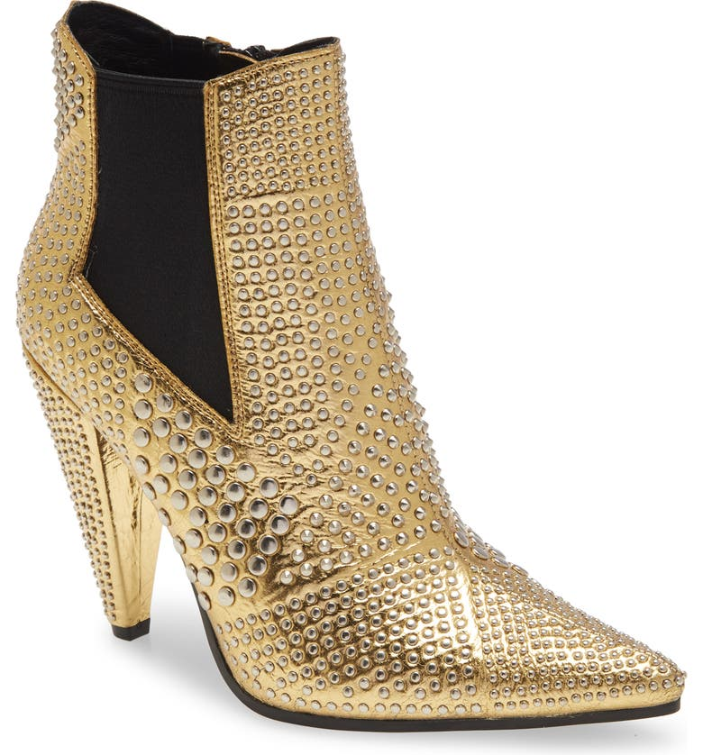 JEFFREY CAMPBELL Studd Bootie, Main, color, GOLD SILVER