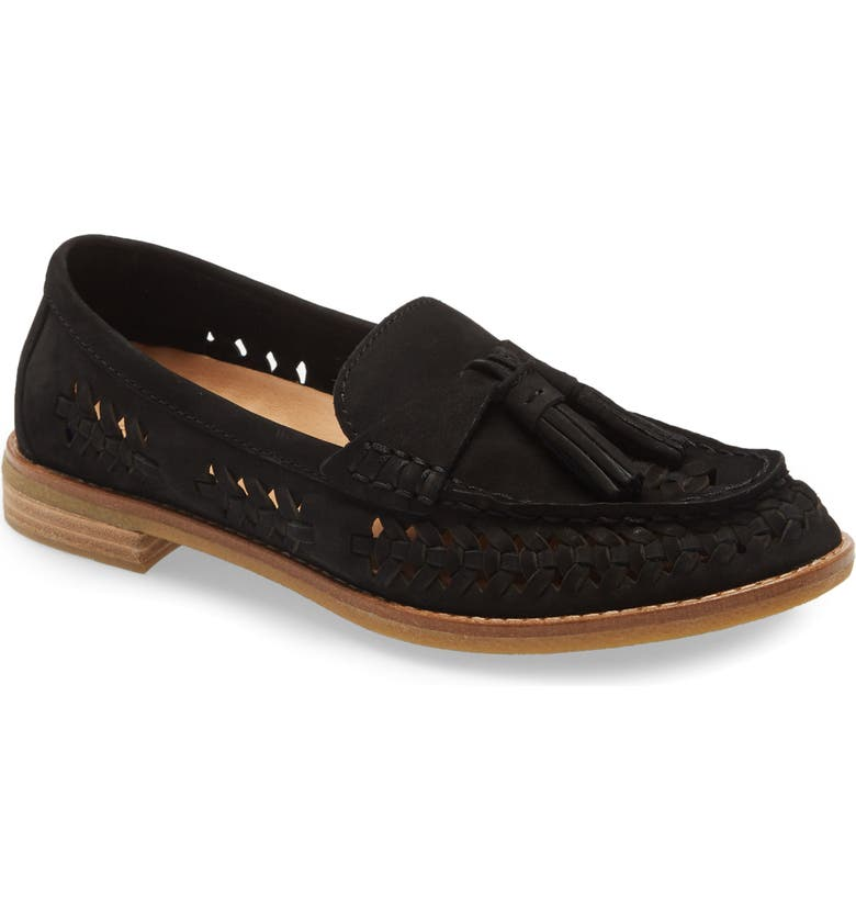 SPERRY Seaport Penny Loafer, Main, color, BLACK LEATHER