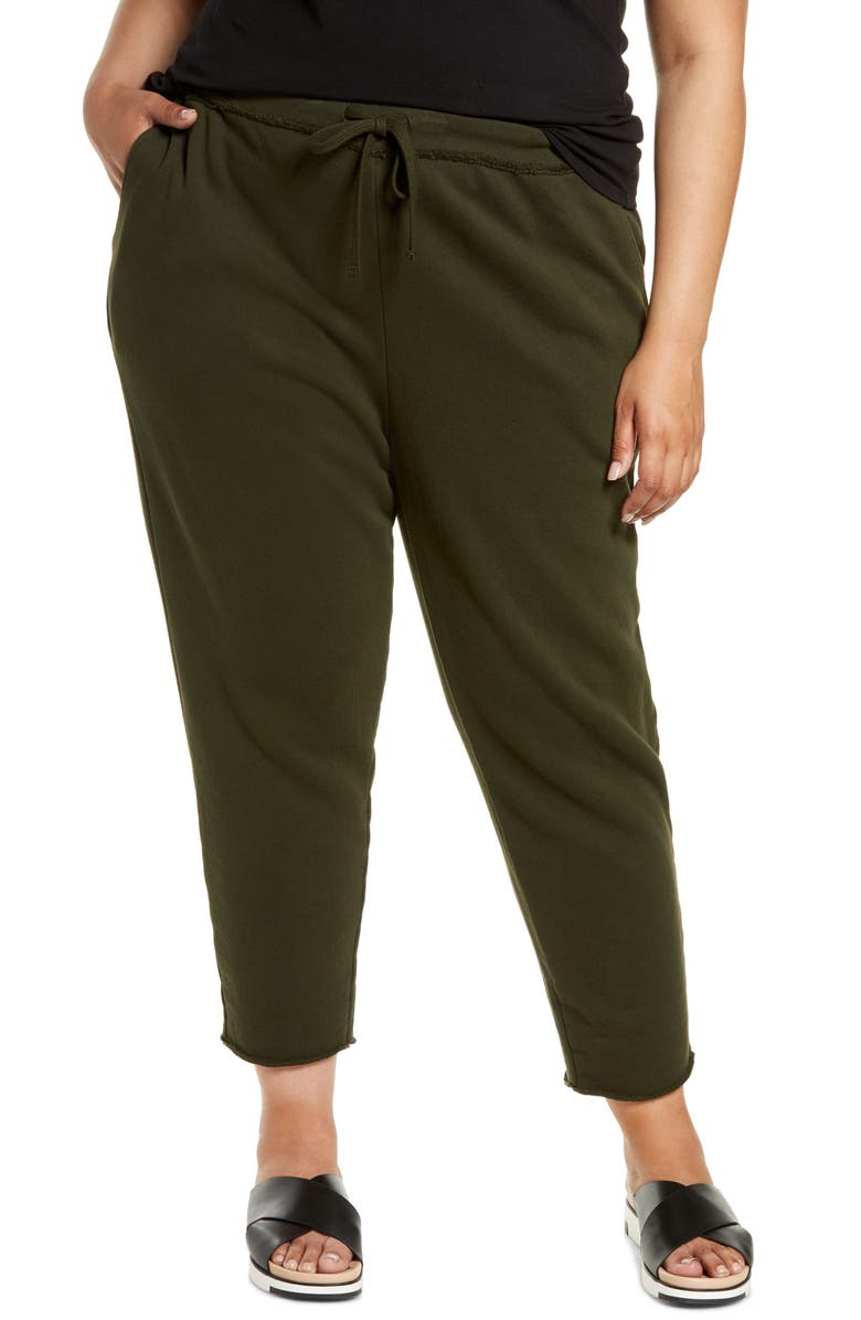 EILEEN FISHER Organic Cotton Joggers, Main, color, SEAWEED