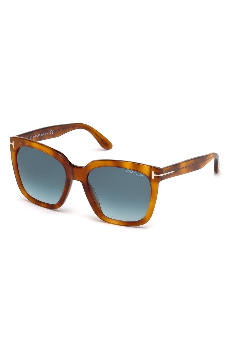 TOM FORD 55mm Gradient Square Sunglasses, Main, color, 200