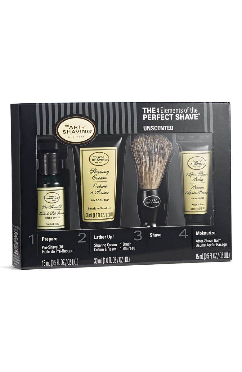 THE ART OF SHAVING <sup>®</sup> The 4 Elements of The Perfect Shave<sup>®</sup> Starter Kit, Main, color, UNSCENTED