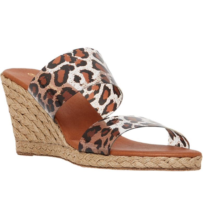 ANDRÉ ASSOUS Anfisa Espadrille Wedge, Main, color, LEOPARD FABRIC