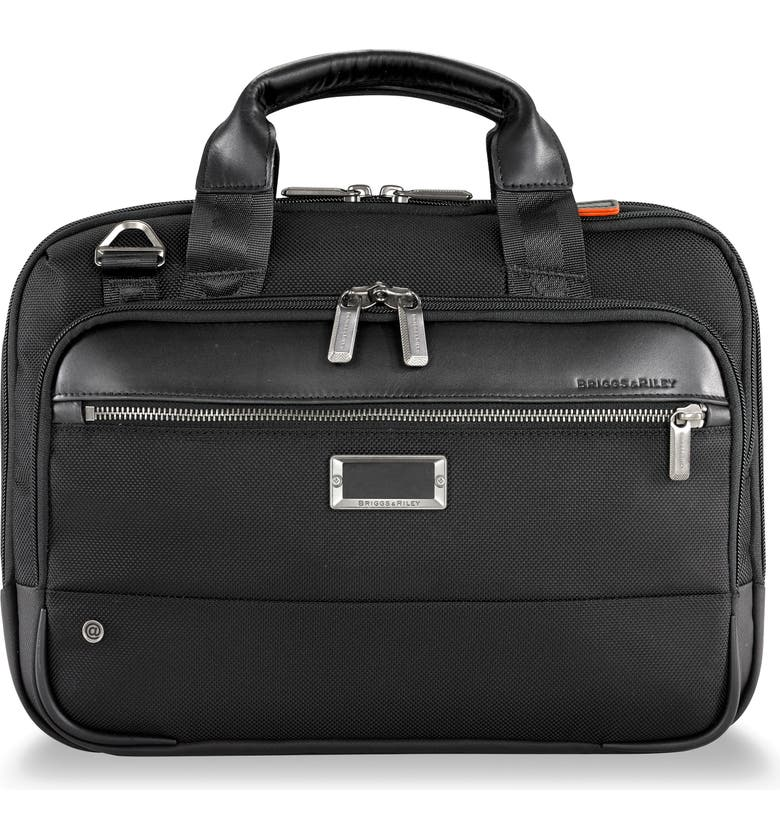BRIGGS & RILEY @work Small Expandable Ballistic Nylon Laptop Briefcase with RFID Pocket, Main, color, 001