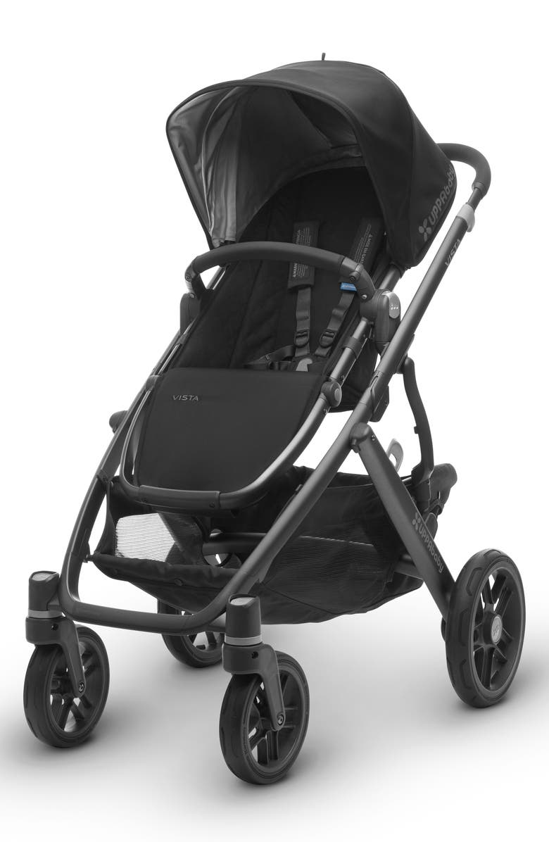 UPPABABY 2017 VISTA Aluminum Frame Convertible Stroller with Bassinet & Toddler Seat, Main, color, 001