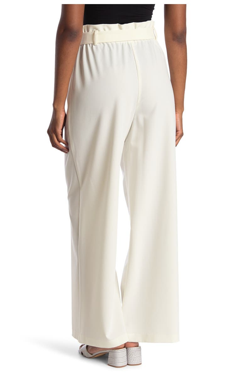 BCBGMAXAZRIA Paperbag Waist Cropped Pants, Main, color, OFF WHITE