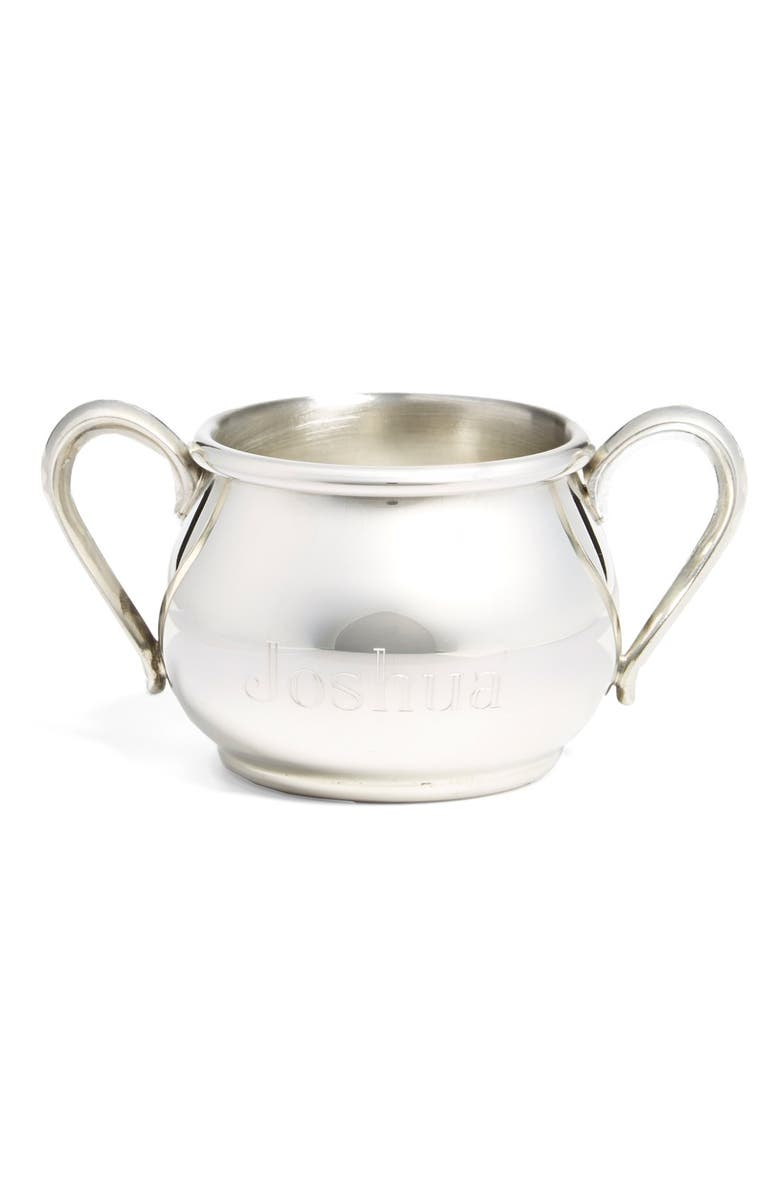 SALISBURY PEWTER Personalized Double Handle Baby Cup, Main, color, 960