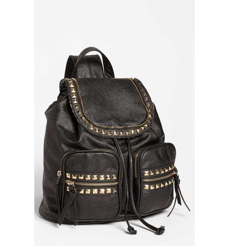 CESCA 'Study Buddy' Studded Faux Leather Backpack, Main, color, 001