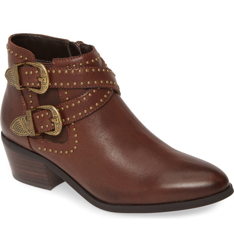 DAVID TATE Senator Bootie - Multiple Widths Available, Main, color, BROWN LEATHER