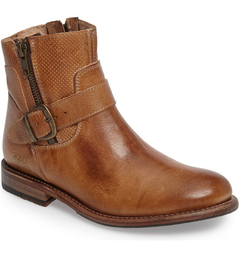 BED STU Becca Buckle Boot, Main, color, TAN RUSTIC LEATHER