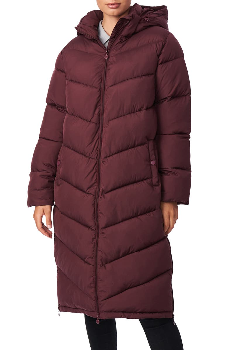 BERNARDO Recycled Micro Touch Water Resistant Packable Jacket, Main, color, GARNET