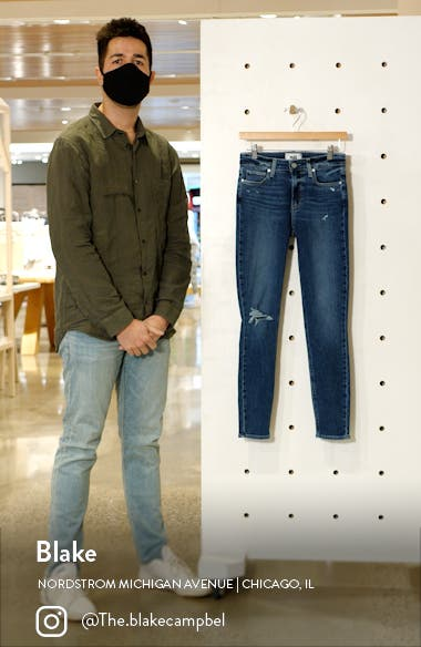 Hoxton Distressed Ankle Skinny Jeans, sales video thumbnail