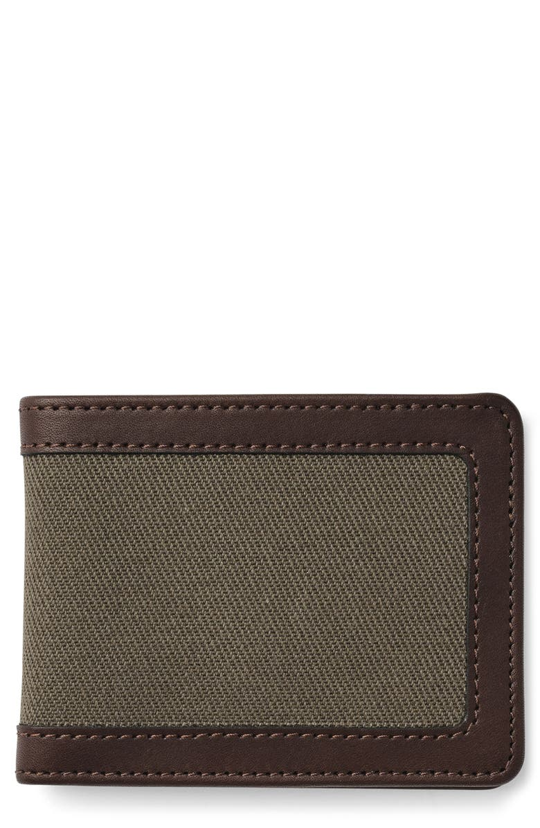 FILSON Outfitter Wallet, Main, color, OTTER GREEN