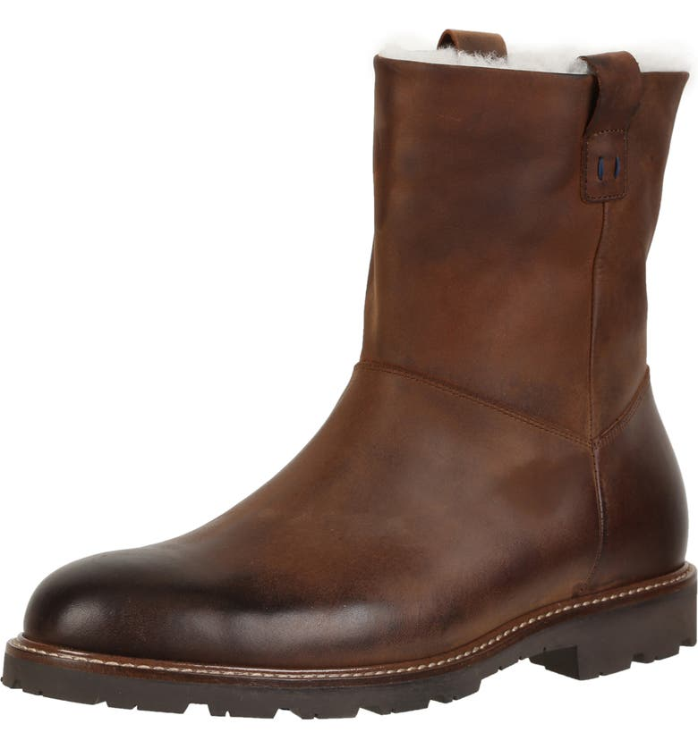 ROSS & SNOW Kenneth Boot with Genuine Shearling, Main, color, 200