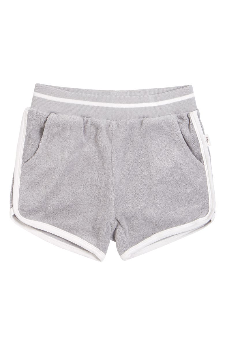MILES Kids' French Terry Knit Shorts, Main, color, LIGHT GREY