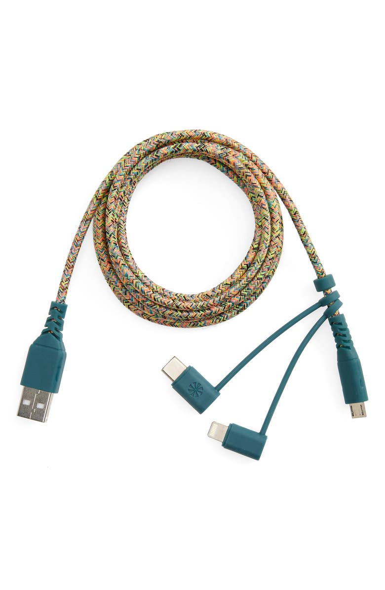 TECH CANDY Triple Header 6-Foot Micro USB Cable, Main, color, 656