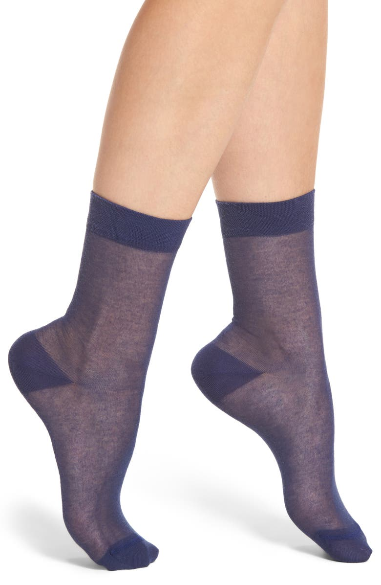CHELSEA28 Sheer Crew Socks, Main, color, 411