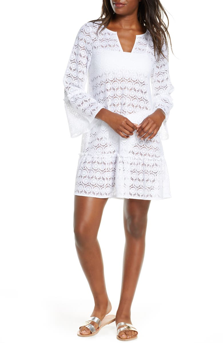 LILLY PULITZER<SUP>®</SUP> Payton Cover-Up Dress, Main, color, 100